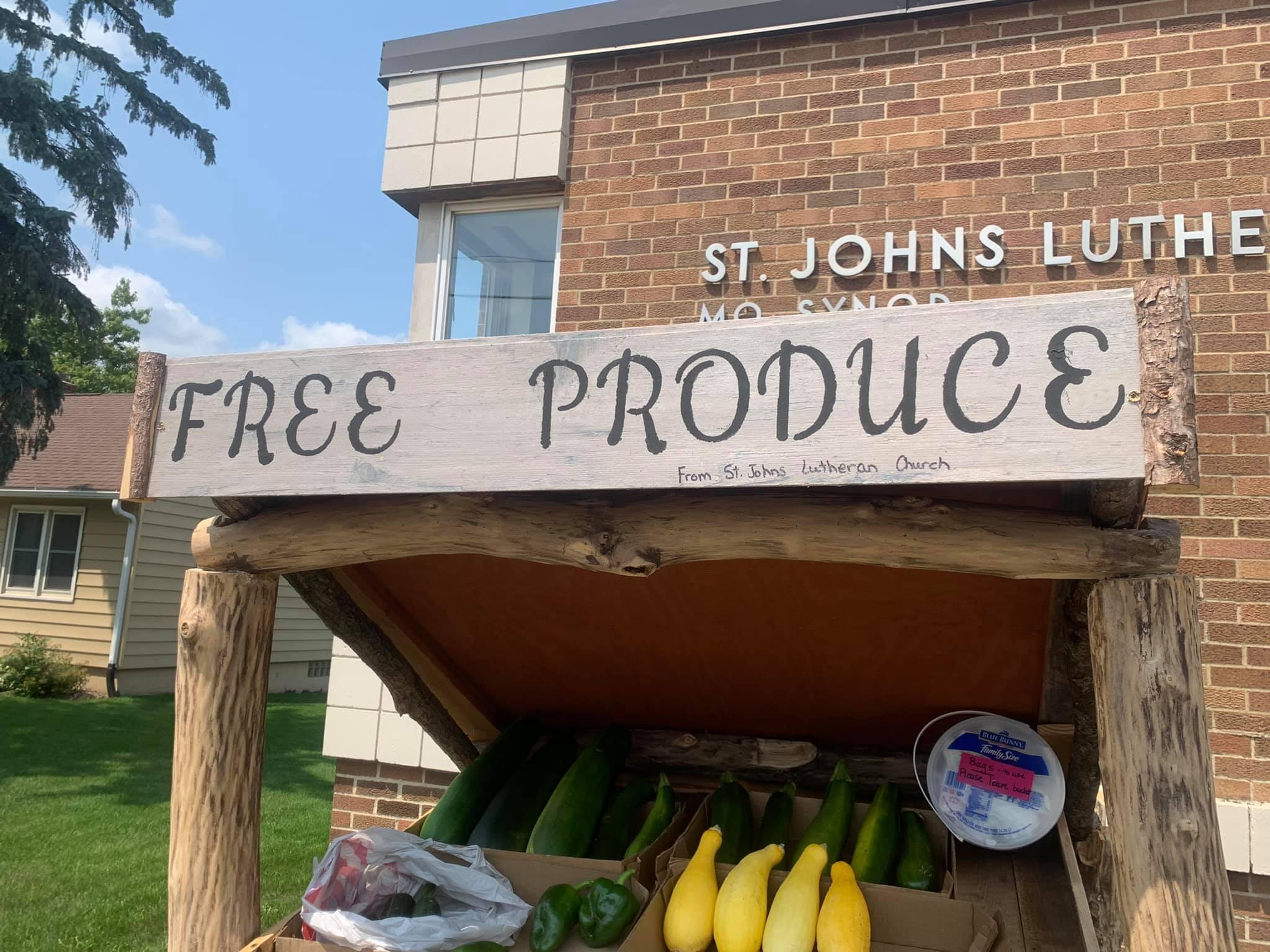St. John's Free Produce Stand!